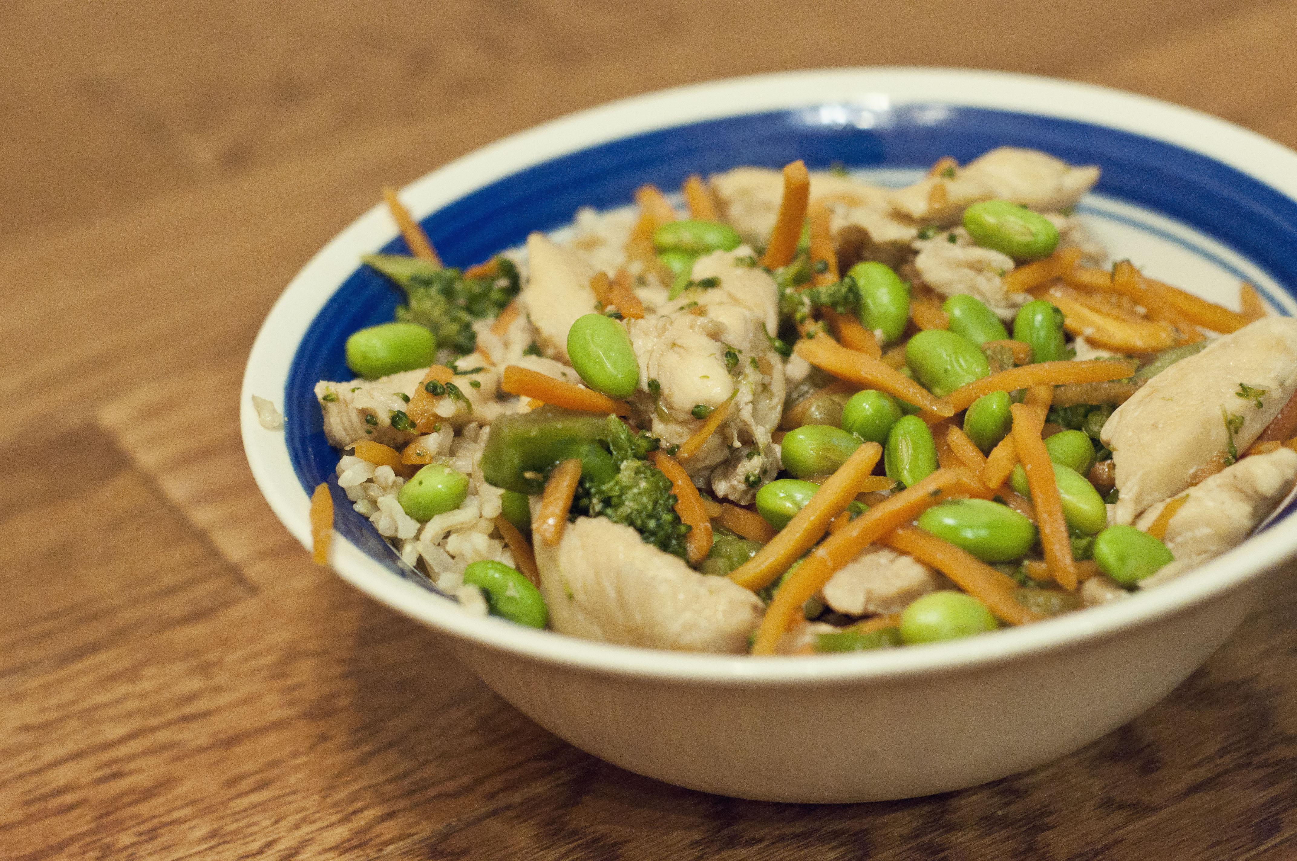 chicken, chicken recipe, teriyaki recipe, recipe, cooking, food, taste arkansas, arkansas rice, agriculture, dinner, easy recipe, easy chicken teriyaki rice bowl recipe, edamame,