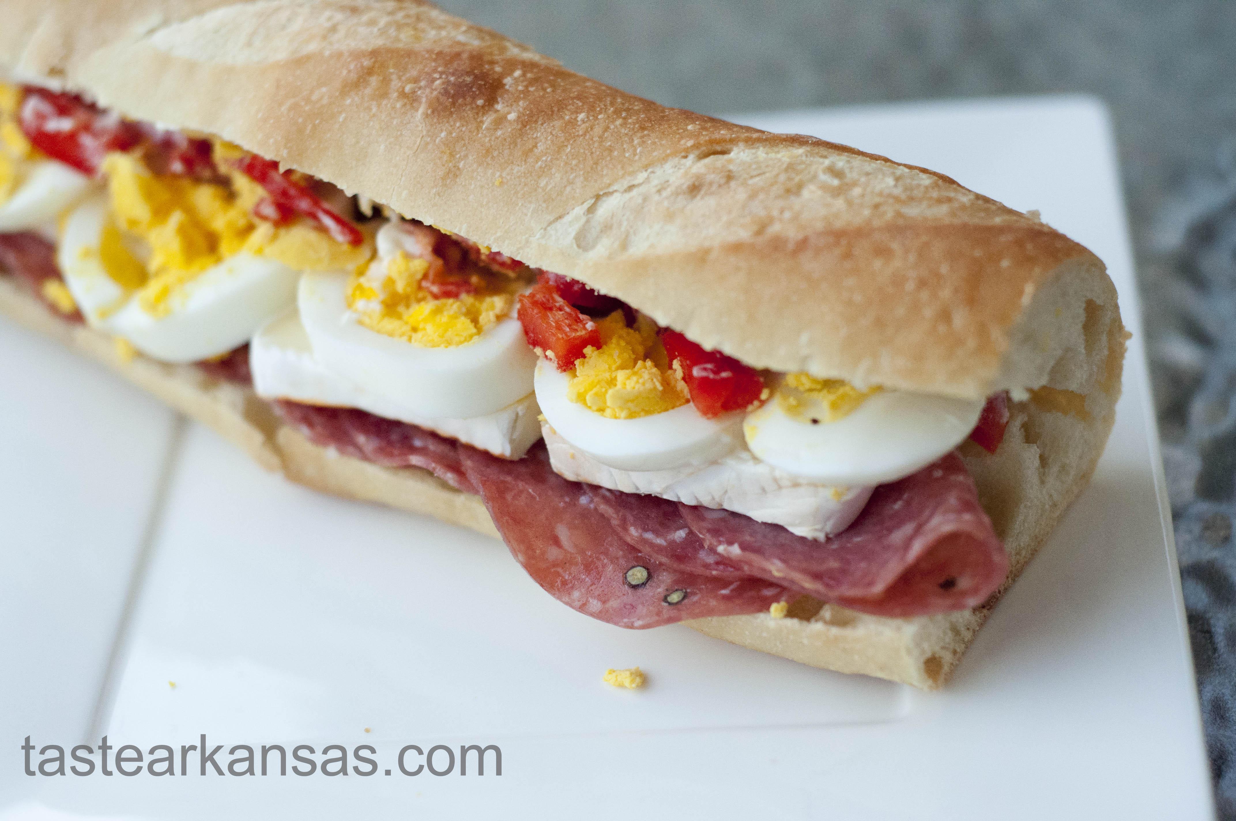Salami Brie Sandwich Photo