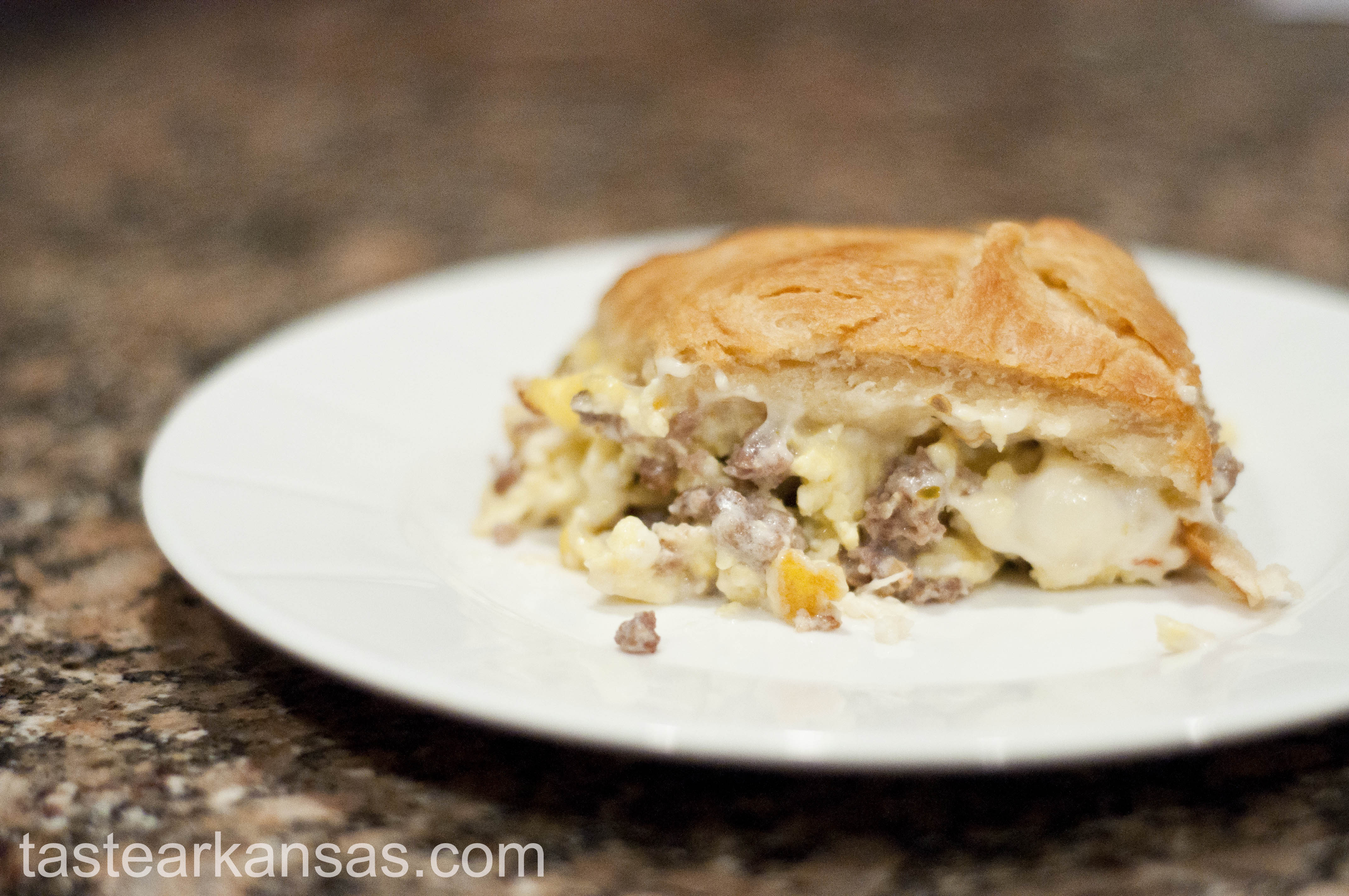 Pepperjack Sausage and Cream Cheese Casserole