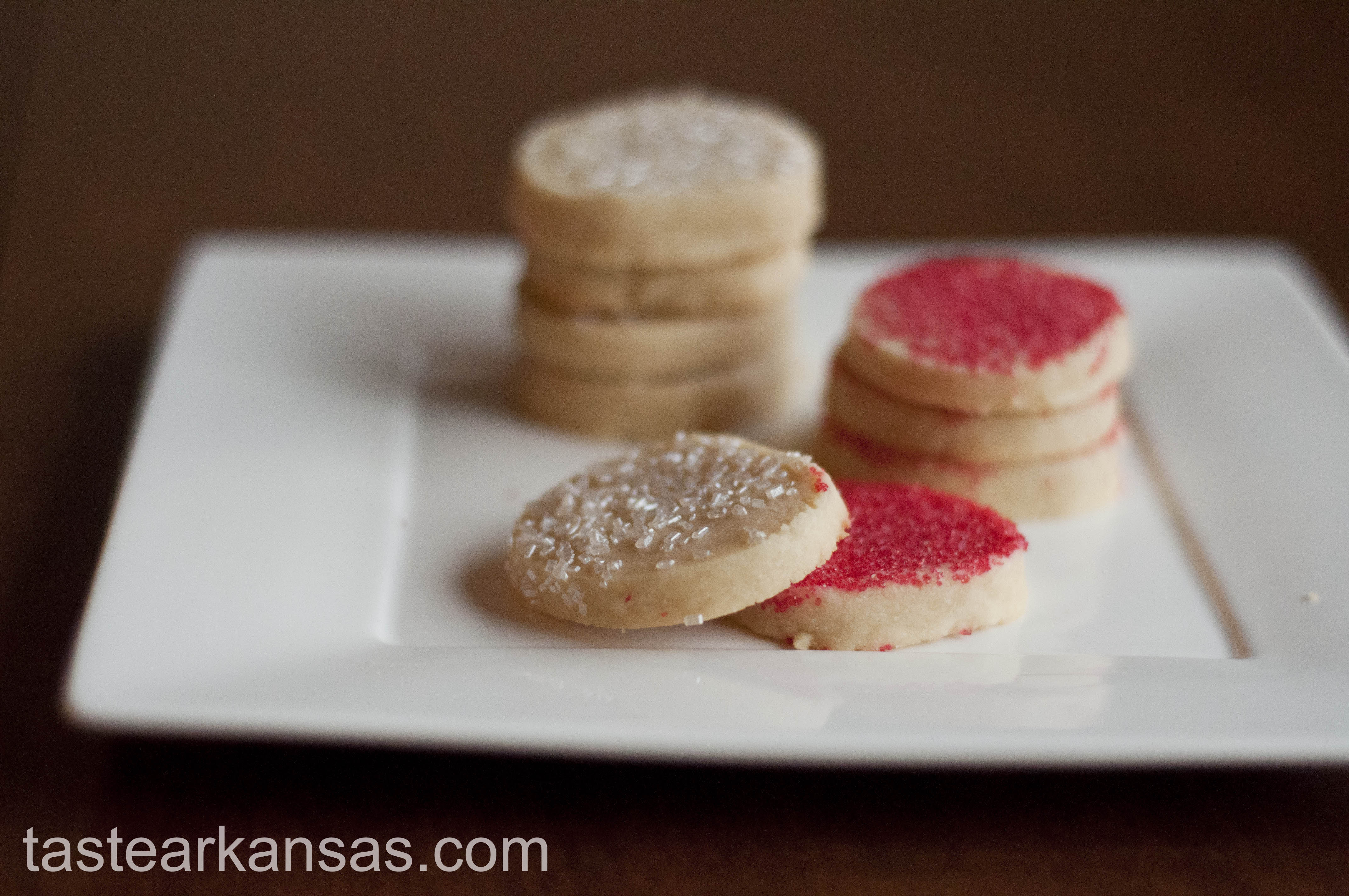 Sprinkle Shortbread Cookies